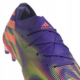 Buty piłkarskie adidas Nemeziz .1 M Fg EH0760 fioletowe fioletowe 3