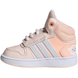 Buty adidas Hoops Mid Jr FW4924 różowe 1