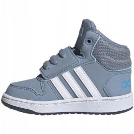 Buty adidas Hoops Mid 2.0 Jr FW4922 niebieskie 1
