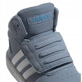 Buty adidas Hoops Mid 2.0 Jr FW4922 niebieskie 3
