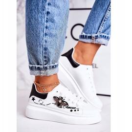 Damskie Sportowe Buty Sneakersy Z Muchą Białe Amour 1