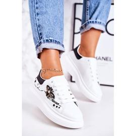 Damskie Sportowe Buty Sneakersy Z Muchą Białe Amour 2