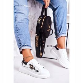 Damskie Sportowe Buty Sneakersy Z Muchą Białe Amour 3
