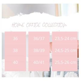 Bona Ciepłe Kapkcie Z Aplikacją białe różowe 3