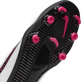 Buty piłkarskie Nike Phantom Gt Club Df FG/MG CW6672 160 białe 7