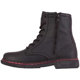 Buty damskie Kappa Deenish czarno-różowe 242885 1122 czarne 2
