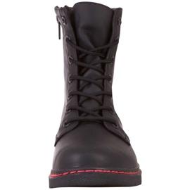 Buty damskie Kappa Deenish czarno-różowe 242885 1122 czarne 3