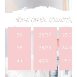 Bona Ciepłe Kapcie Happy Comfort białe różowe 5