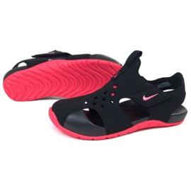 Sandały Nike Sunray Protect 2 (PS) Jr 943826-003 czarne różowe 1