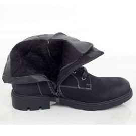 Timberki damskie czarne 4058 Black 3
