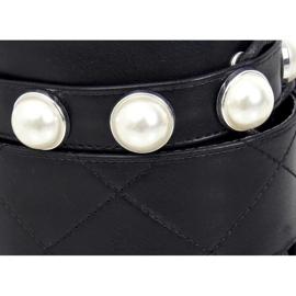 Glany z perełkami czarne NC1065 Black 2