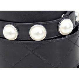 Glany z perełkami czarne NC1065 Black 3