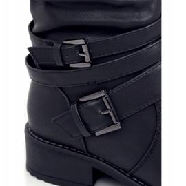 Oficerki damskie czarne 7501 Black 1