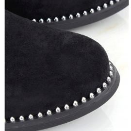 Sztyblety damskie zamsz czarne RQ313 Black 2