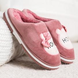 Bona Wsuwane Kapcie Home różowe 3