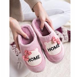 Bona Wsuwane Kapcie Home różowe 4