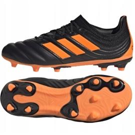 Buty piłkarskie adidas Copa 20.1 Fg Jr EH0887 czarne pomarańczowy, czarny, pomarańczowy 2