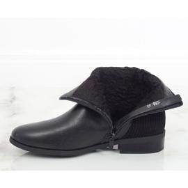 Botki damskie czarne 1058 Black 3
