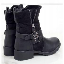 Botki damskie czarne 8056 Black 1