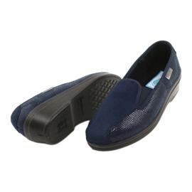 Befado obuwie damskie pu 034D001 granatowe 4