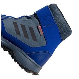 Buty adidas Terrex Snow Cf Cp Cw Jr G26579 czarne niebieskie szare 2
