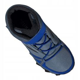 Buty adidas Terrex Snow Cf Cp Cw Jr G26579 czarne niebieskie szare 3