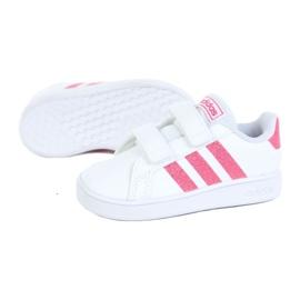Buty adidas Grand Court I Jr EG3815 białe czarne 1
