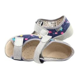Befado obuwie dziecięce  869X144 niebieskie srebrny szare 5