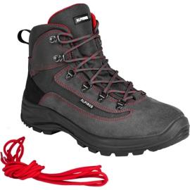 Buty trekkingowe Alpinus Brahmatal High Active GR43321 czarne czerwone szare 3