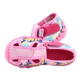 Befado obuwie dziecięce 190P097 niebieskie różowe srebrny żółte 5