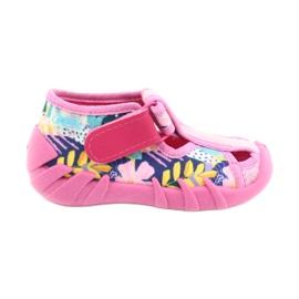 Befado obuwie dziecięce 190P097 niebieskie różowe srebrny żółte 1