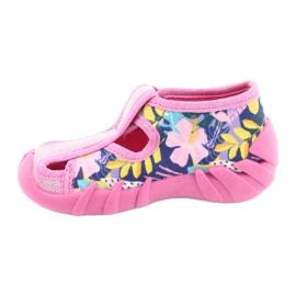 Befado obuwie dziecięce 190P097 niebieskie różowe srebrny żółte 2