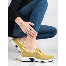 Kylie Klasyczne Buty Sportowe żółte 4