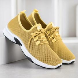 Kylie Klasyczne Buty Sportowe żółte 1