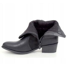 Botki damskie czarne Z1122 Black 3