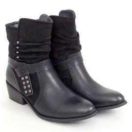 Botki damskie czarne Z1122 Black 4