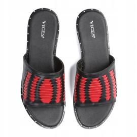 Vices 3208-19 Red 36 41 czarne czerwone 2