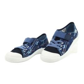 Befado obuwie dziecięce 251Y154 granatowe niebieskie 3