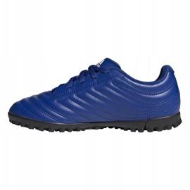 Buty piłkarskie adidas Copa 20.4 Tf Jr EH0931 wielokolorowe niebieskie 1