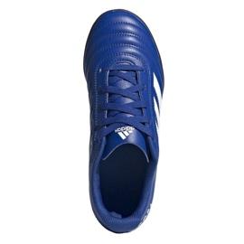 Buty piłkarskie adidas Copa 20.4 Tf Jr EH0931 wielokolorowe niebieskie 2