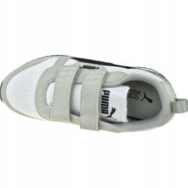 Buty Puma R78 V Ps Jr 373617 02 białe czarne szare 2