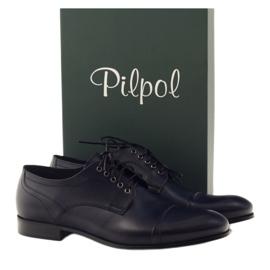 Pantofle Oksfordy Pilpol 1607 granatowe wielokolorowe 4
