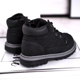 Apawwa Dziecięce chłopięce trapery botki czarne Moa 2