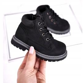 Apawwa Dziecięce chłopięce trapery botki czarne Moa 3