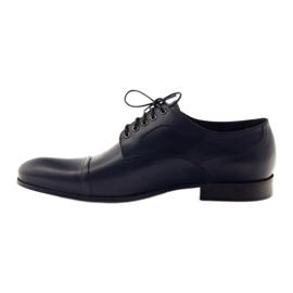 Pantofle Oksfordy Pilpol 1607 granatowe wielokolorowe 2