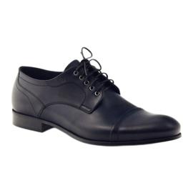 Pantofle Oksfordy Pilpol 1607 granatowe wielokolorowe 1