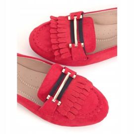 Mokasyny damskie czerwone 88-381 Red 1