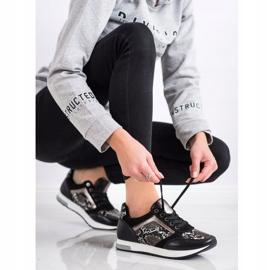 Kylie Modne Sneakersy białe czarne szare 3