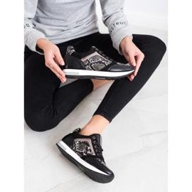Kylie Modne Sneakersy białe czarne szare 1