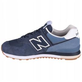 Buty New Balance U ML574GRE białe granatowe niebieskie 1